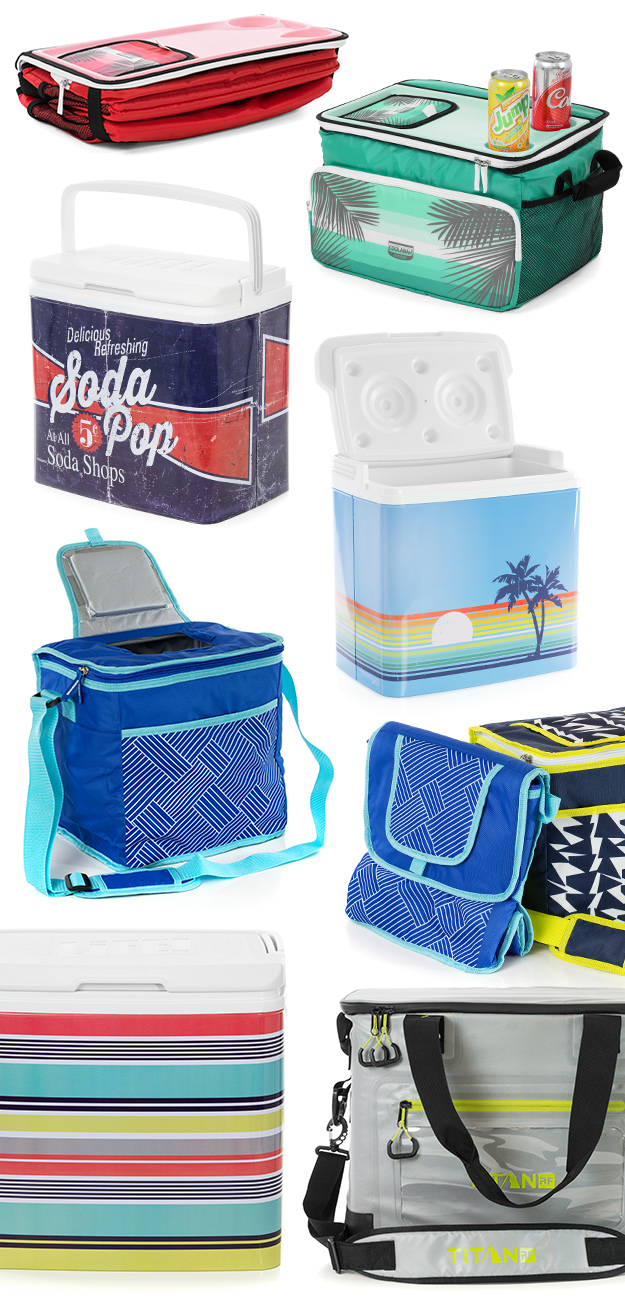 SlumberTrek Cooler range including soft sided, eskies, fold-able and hard sided.