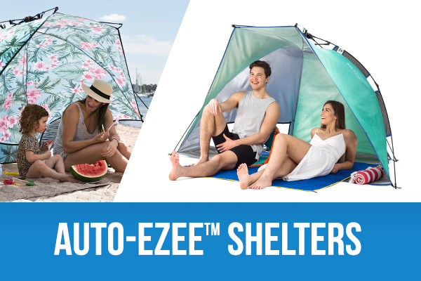 SlumberTrek AutoEzee Laguna and Adventure sun shelters