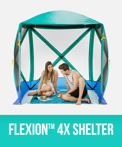 Flexion 4 sided sun shelter, screen room, outdoor space