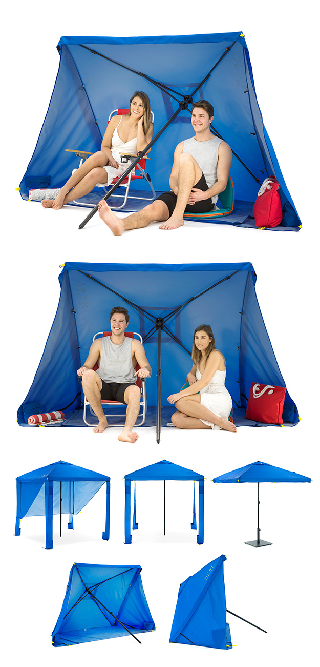 Myri sun shelter, umbrella and gazebo images showing it in use